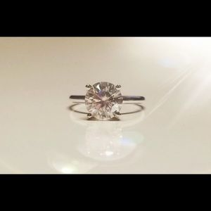 Jewelry - Natural 1.0 TCW Diamond Solitaire Ring 14K